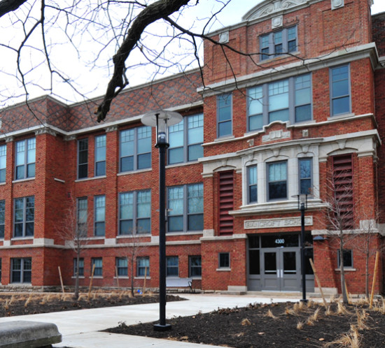 The new windows at the Bancroft School Apartments did an exemplary job of replicating the details of the building's original windows.